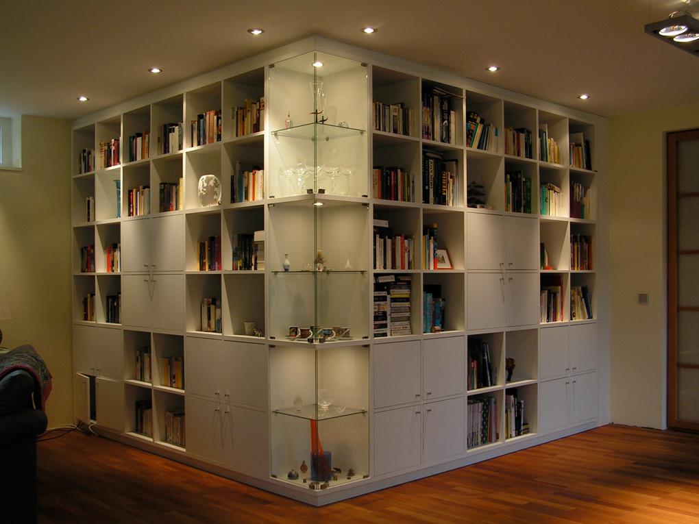 Bücherwände wohnraum casa möbelwerkstätten